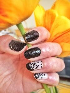 Black snake skin nails