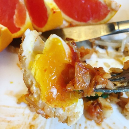 That egg yolk!