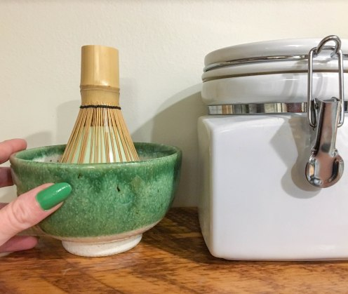 Bowl & Whisk in holder